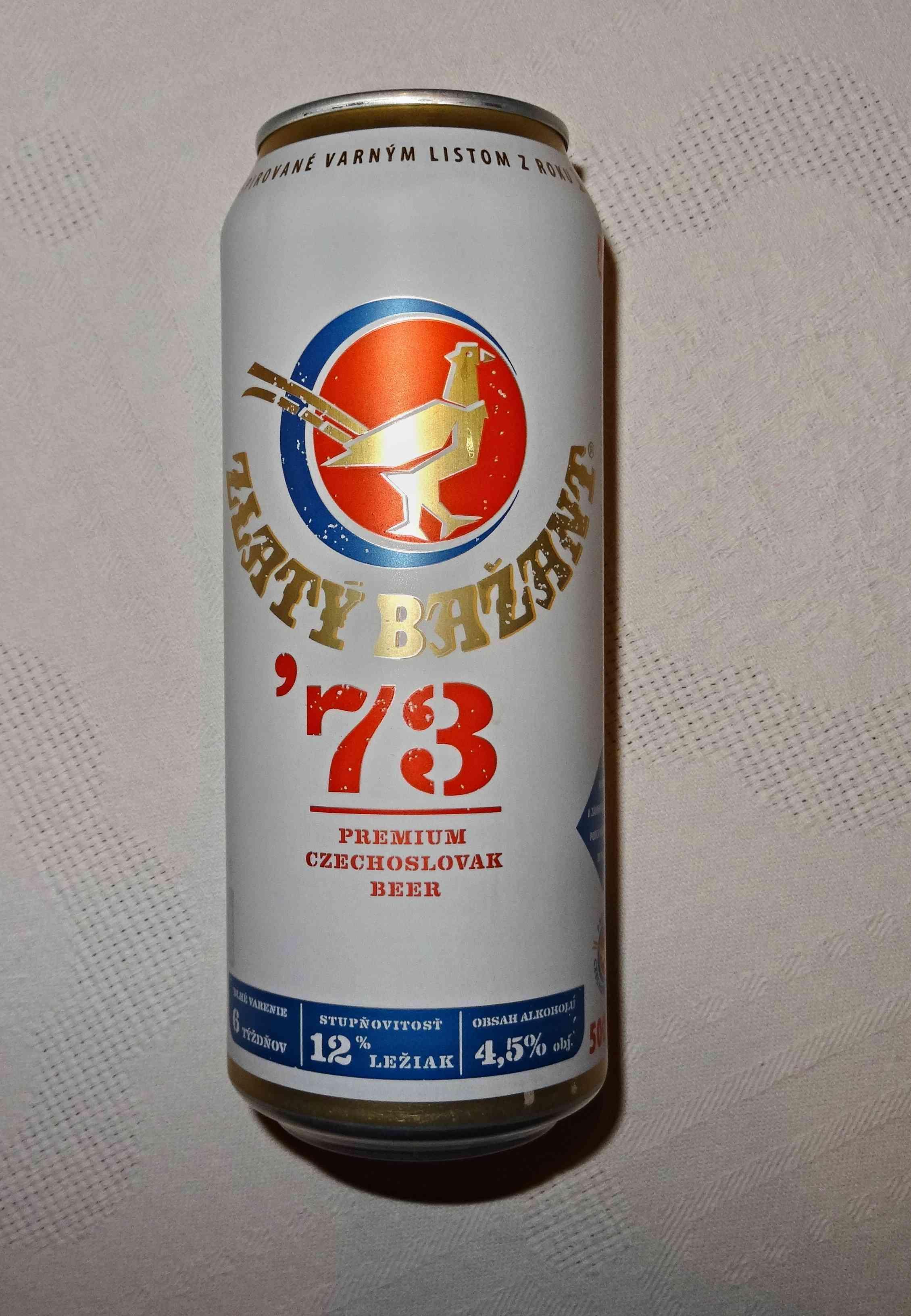 c0c159b8448cf Zlaty Bazant '73, Svetly lezak, vareny dle receptury z roku 1973 plechovka